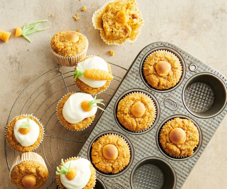 Muffins carottes-massepain