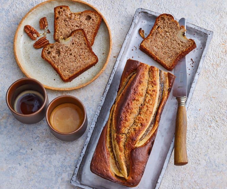 Banana bread aux cacahuètes et aux noix
