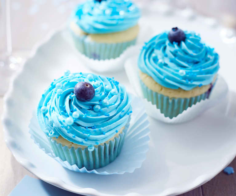 Blaubeer-Joghurt Cupcakes