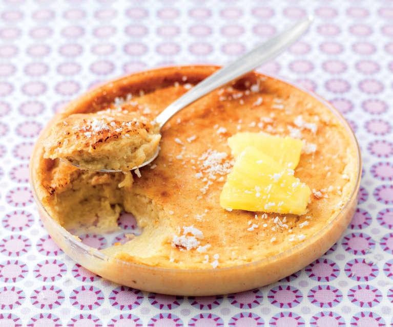 Crème brûlée ananas-coco sans sucre ajouté