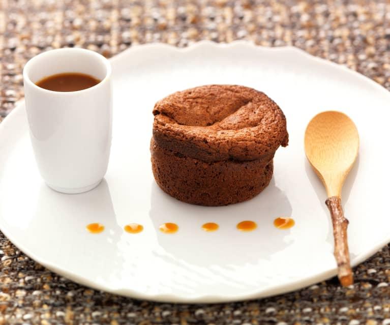 Moelleux au chocolat et caramel au beurre salé