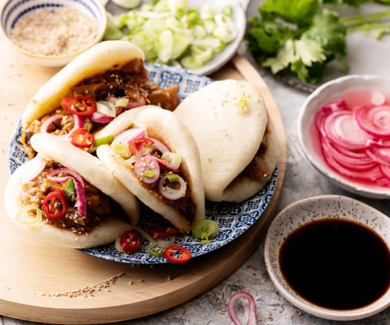 Bao aux champignons et sauce barbecue