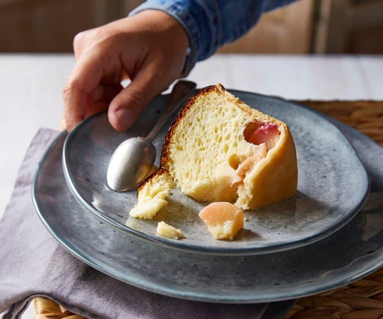 Tourteau fromager aux pêches