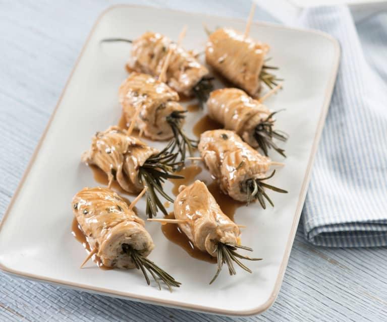 Marynowane roladki z indyka z rozmarynem