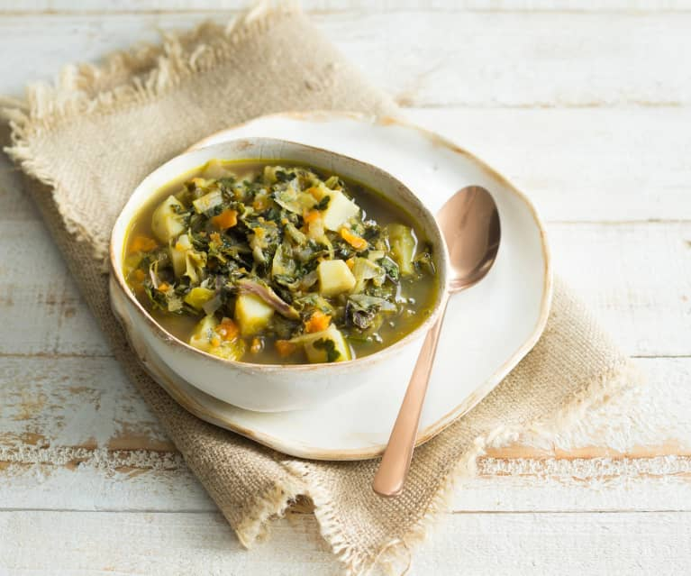 Hearty seven vegetable soup