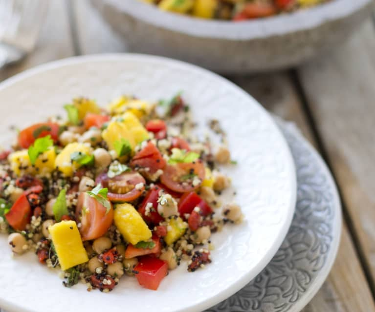 Quinoa salad with mango salsa