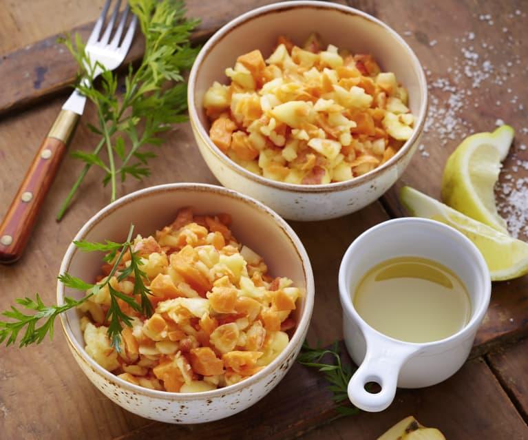 Apfel-Karotten-Rohkost