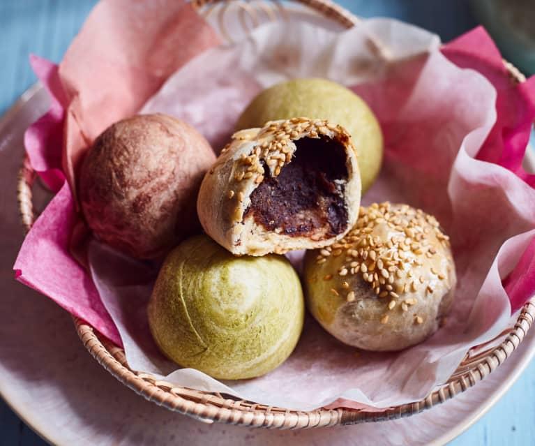 Butterteigbällchen mit roter Bohnenfüllung (红豆酥)