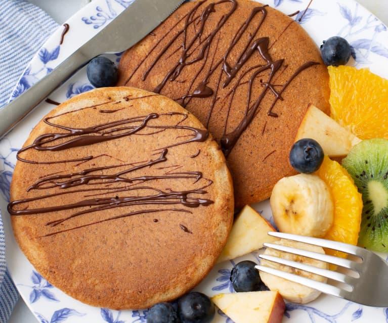 Tortitas integrales con almendra y chocolate