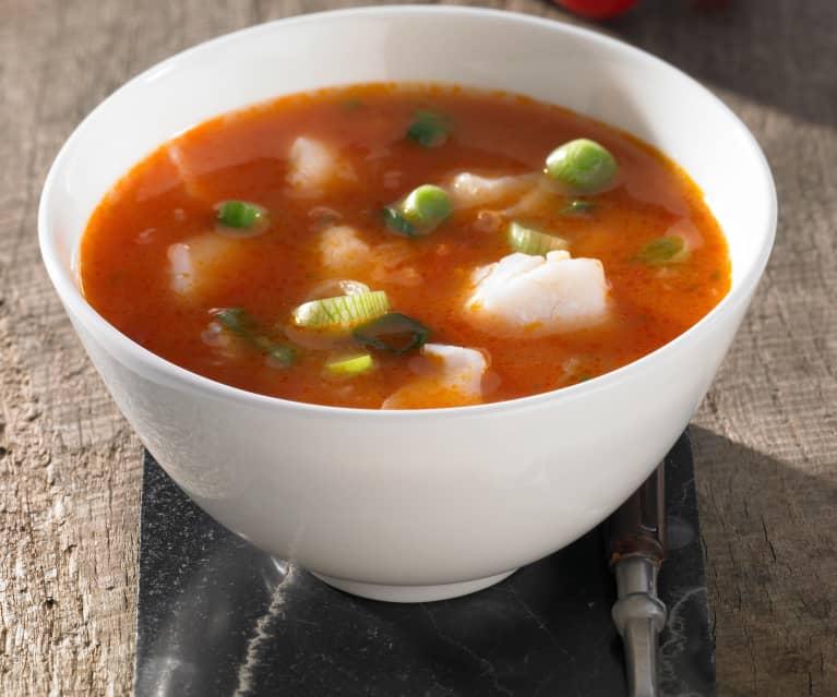 Tomaten-Fisch-Suppe
