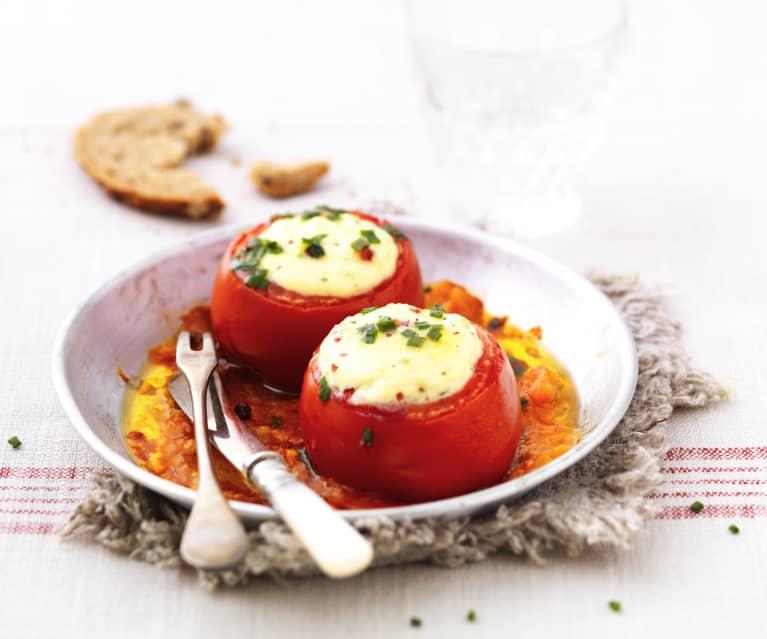 Tomates soufflées à la ricotta