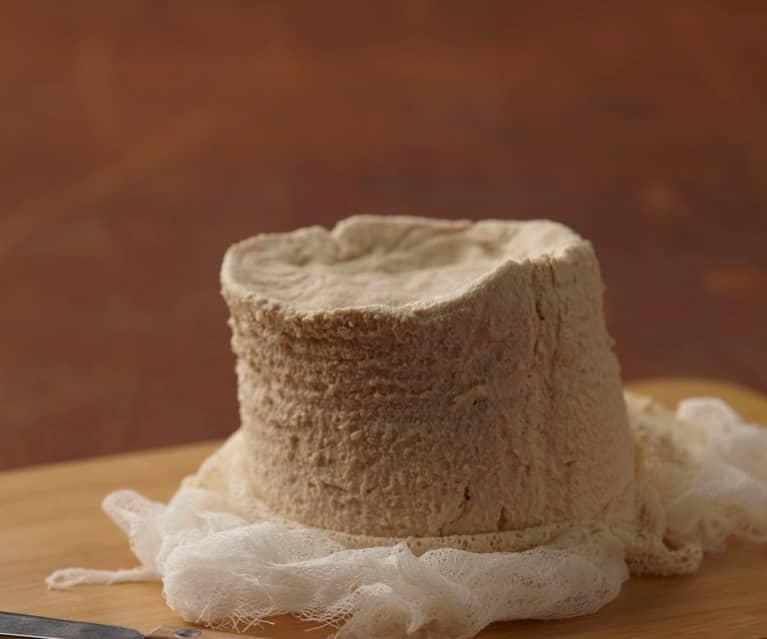 Rustic homemade tofu