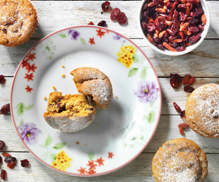 Muffin ai frutti rossi senza uova