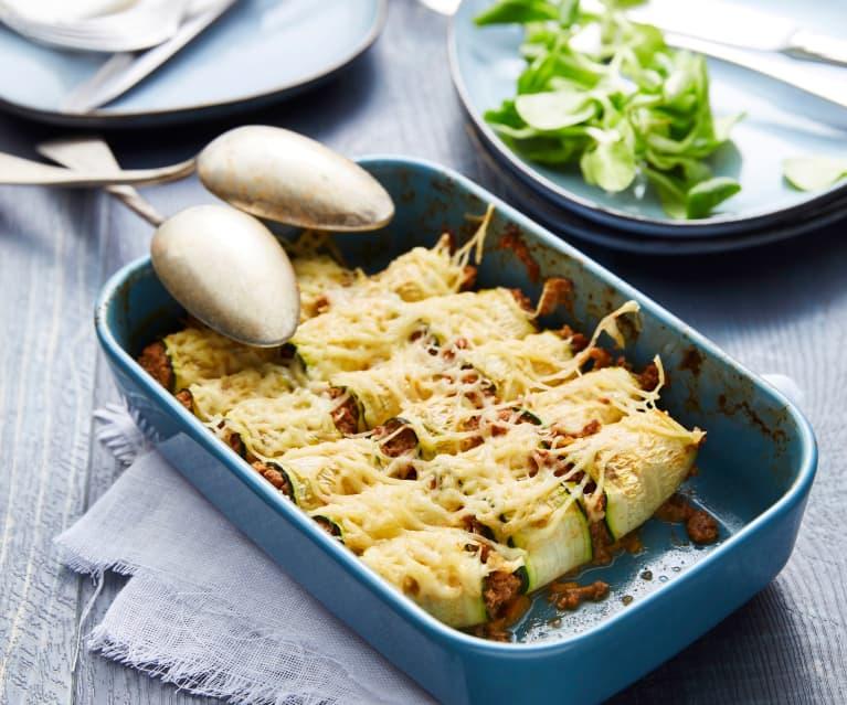 Cannelloni de courgette bolognaise