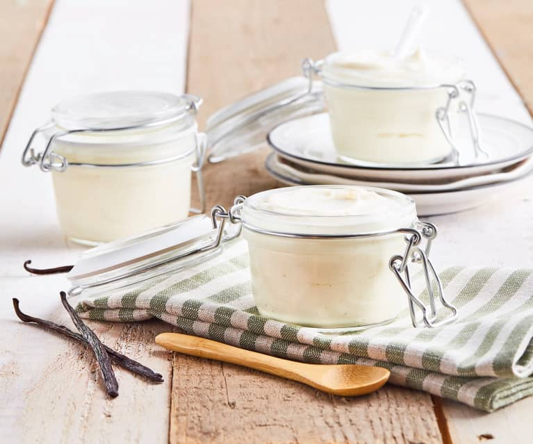 Cremoso di soia alla vaniglia (con fermenti per yogurt)