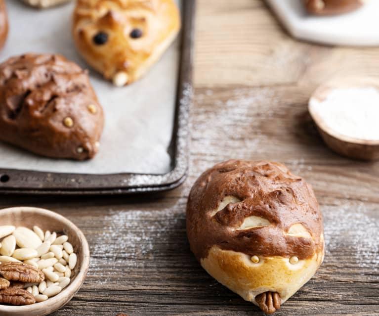 Pães de chocolate ouriço