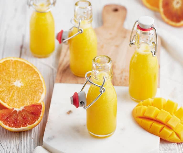 Jus énergétique orange-mangue