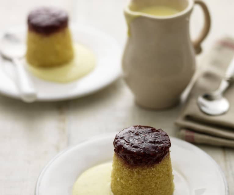 Steamed Raspberry Jam Puddings