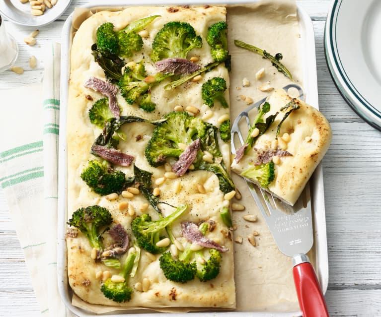 Focaccia mit Brokkoli
