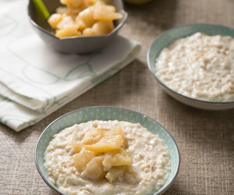 Porridge mit Birnen-Kompott