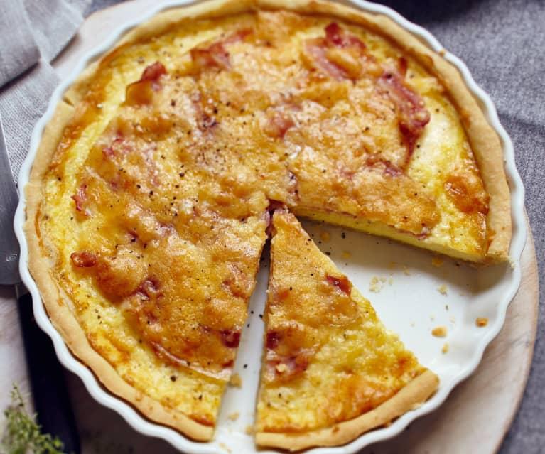 Vier-Käse-Quiche mit Bacon