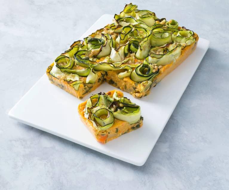 Polenta zucchini slice
