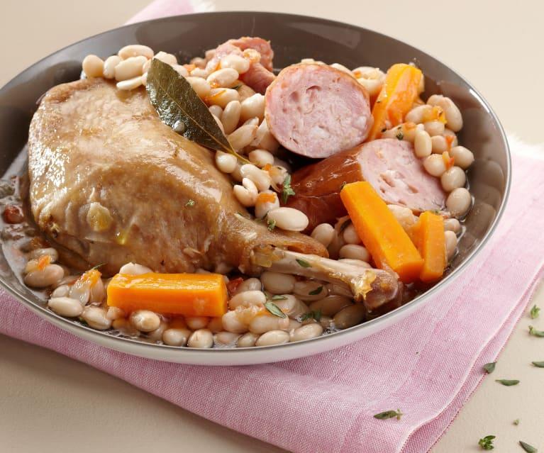 Judías blancas con confit de pato (Cassoulet au confit de canard)