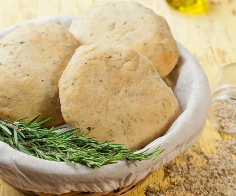 Pane arabo al rosmarino con za'hatar