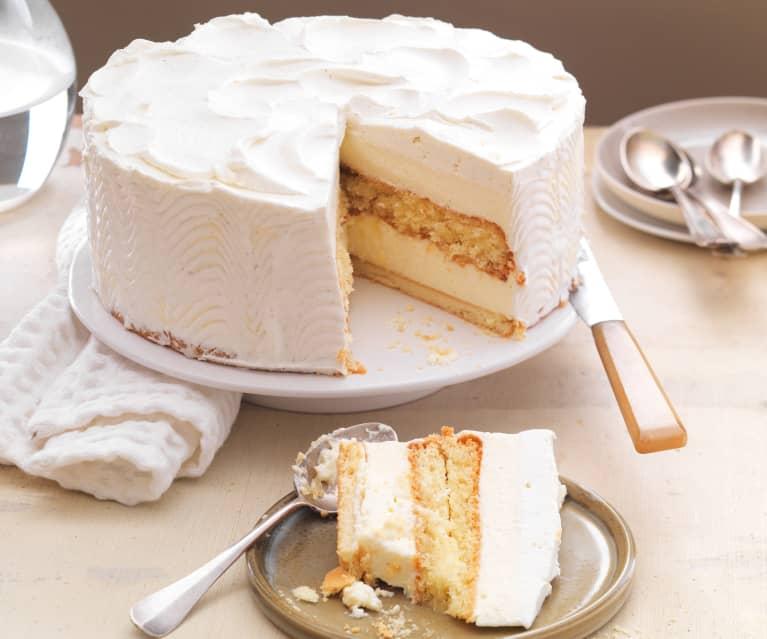 Gâteau crémeux à la vanille
