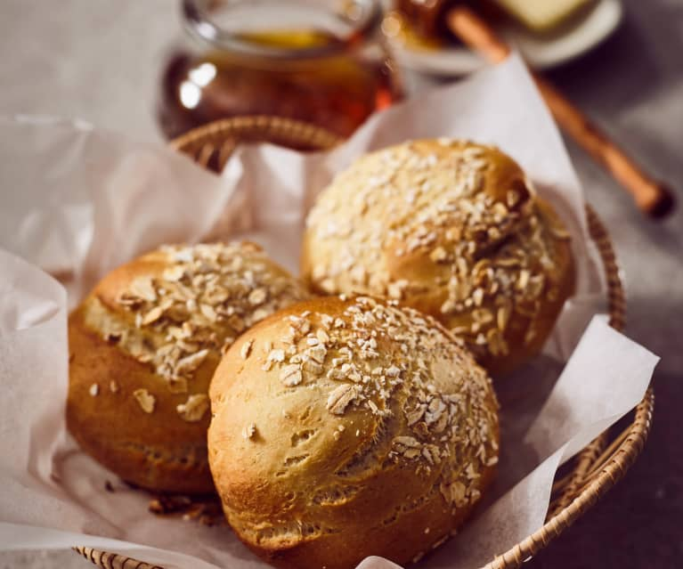 Weizen-Hafer-Brötchen