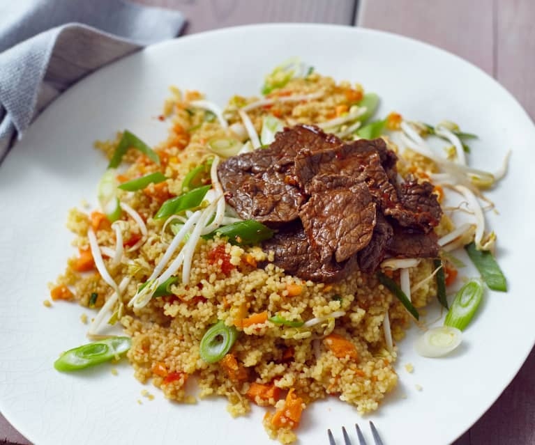 Couscous-Salat mit Rindfleisch