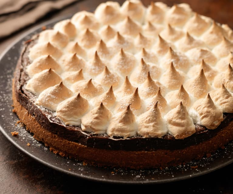 Cheesecake de chocolate con merengue