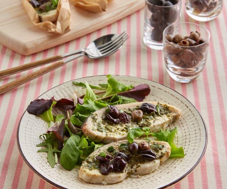 Spada alle erbe con olive