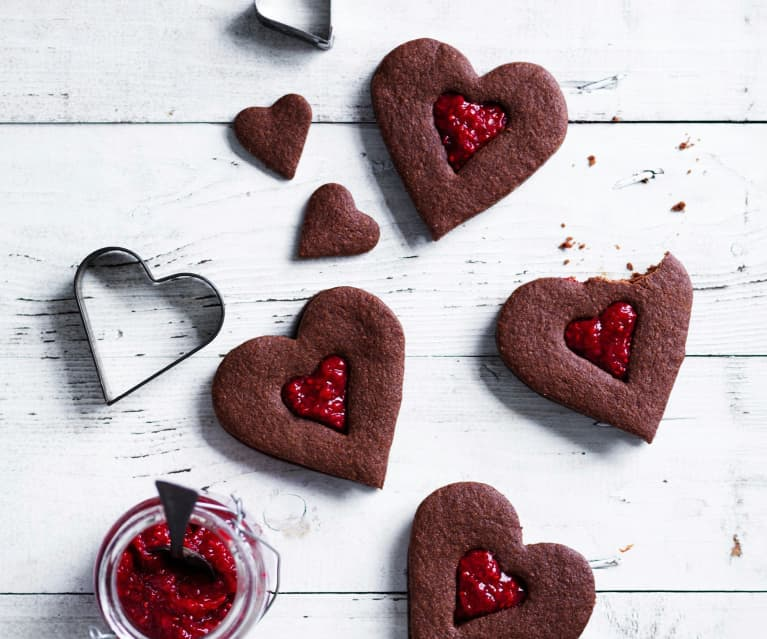 Chocolate spelt biscuits