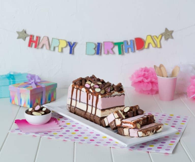 Triple treat ice cream cake