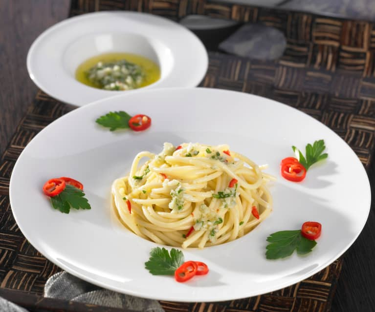 Aglio E Olio Fur Spaghetti Cookidoo Das Offizielle Thermomix Rezept Portal