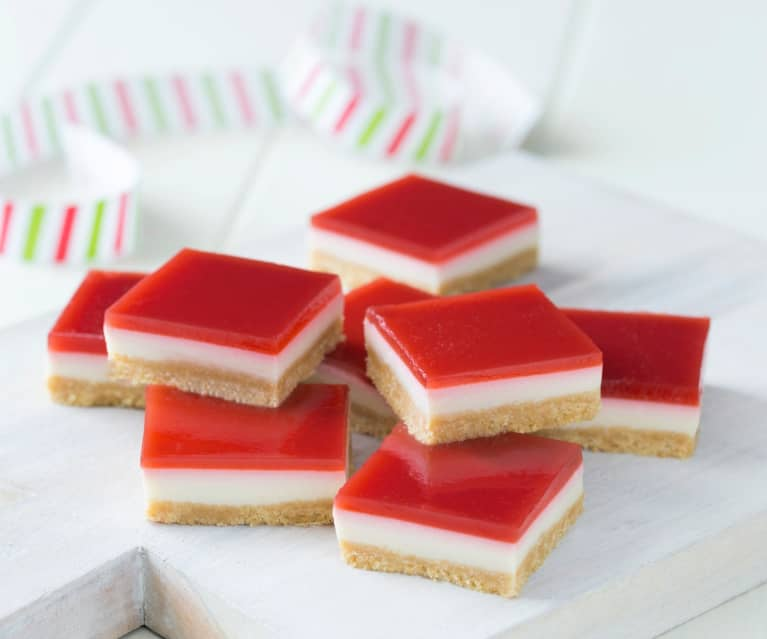 Strawberry jelly slice
