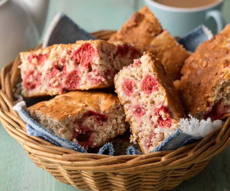 Raspberry Oatmeal Breakfast Cake