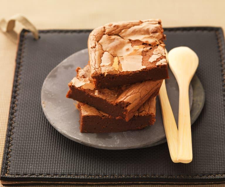 Brownie de chocolate y castañas (sin gluten)