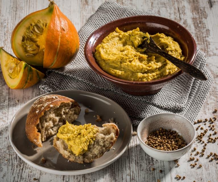 Kürbis-Kichererbsen-Hummus