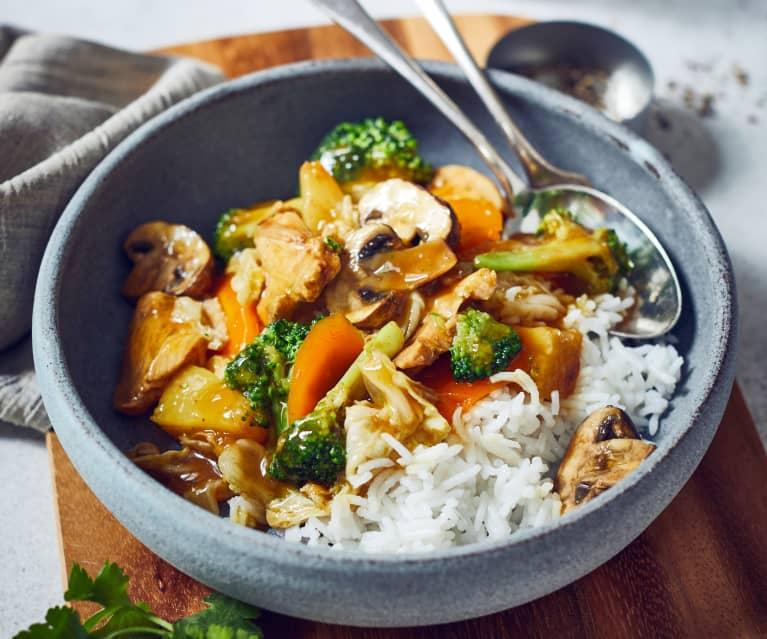 Curryhähnchen süß-sauer
