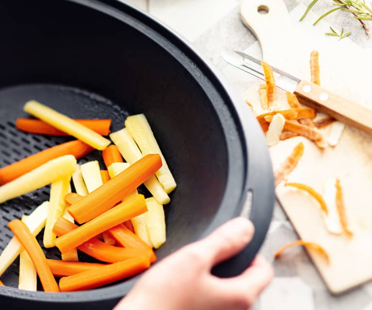 Steamed Carrots and Parsnip Batons