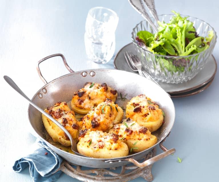 Pommes de terre farcies au chorizo