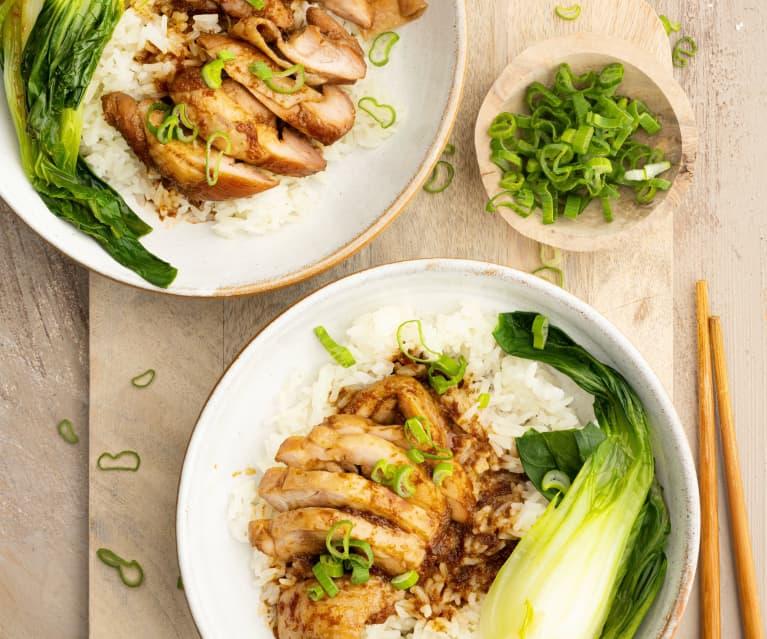 Soy-glazed Chicken with Pak Choi