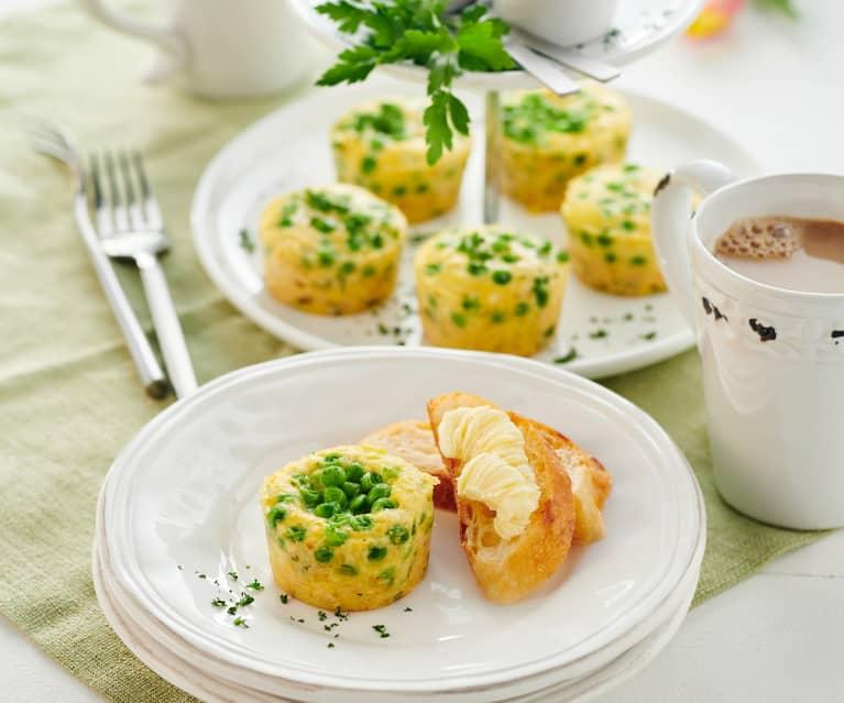 Erbsen-Schinken-Omeletties