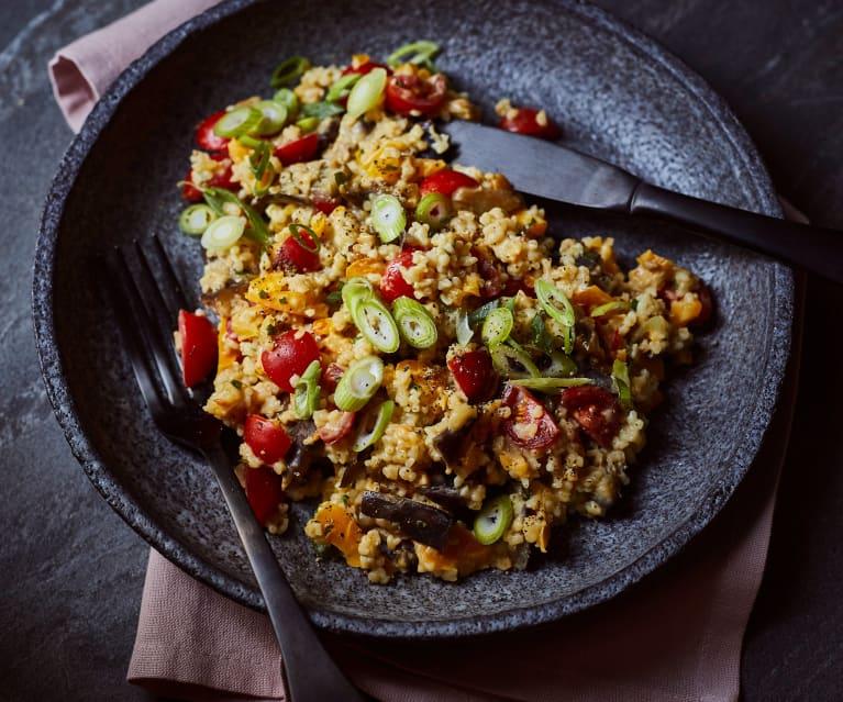 Auberginen-Bulgur-Salat