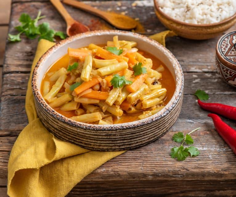 Fasolka szparagowa z curry