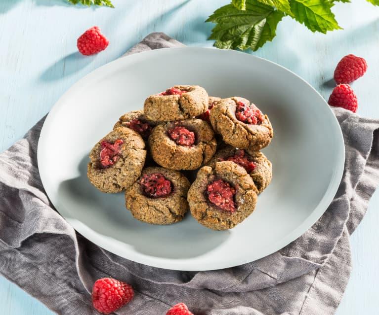 Biscotti ai semi di papavero e lamponi