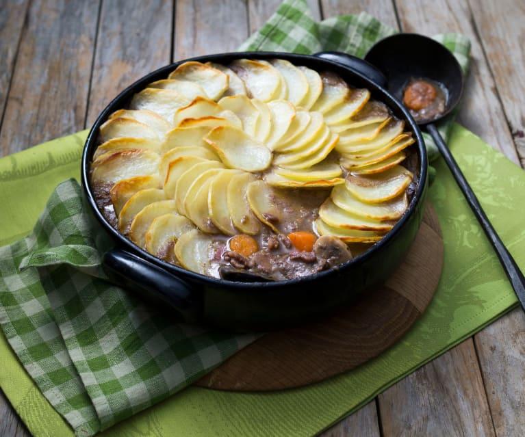 Beef and mushroom hot pot