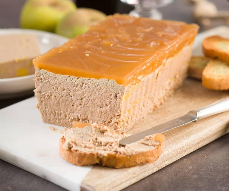 Paté de higaditos y manzana al oporto